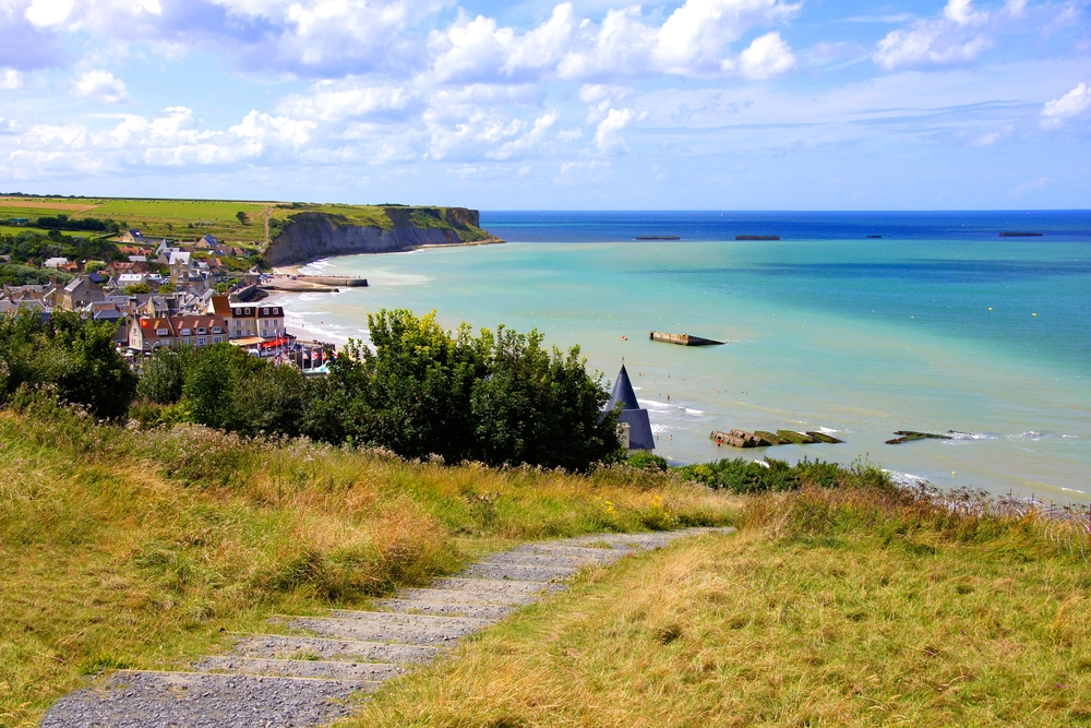 Houlgate coastline in Normandy