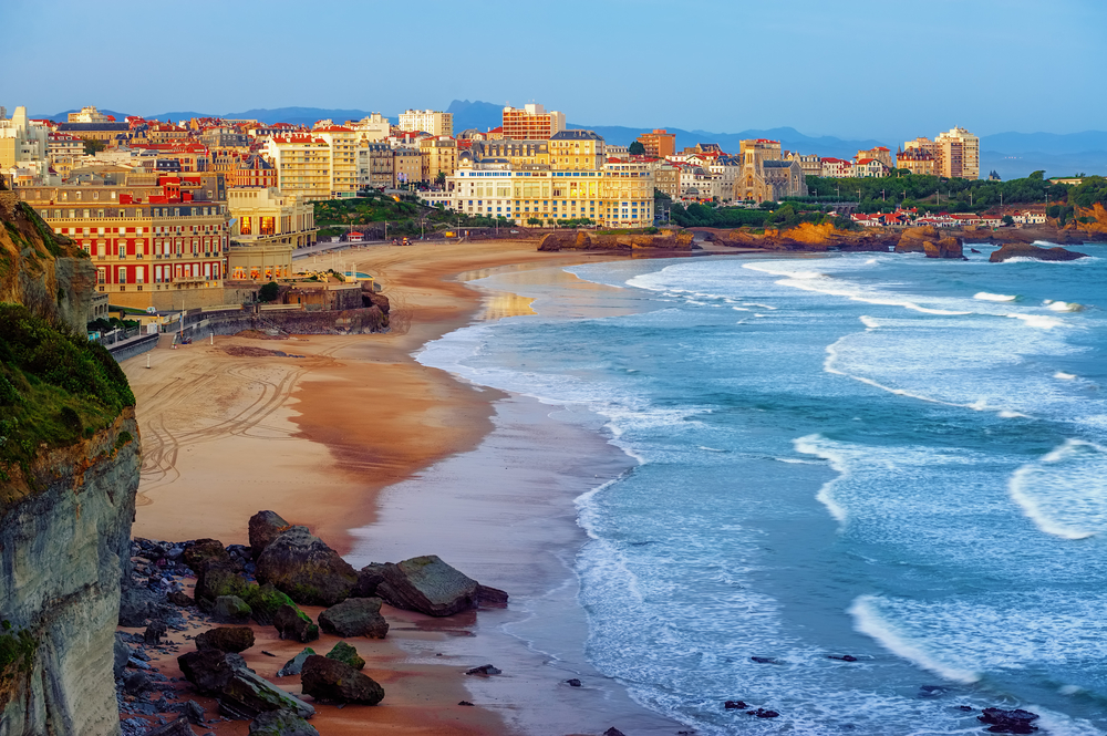 The glamorous seaside resort of Biarritz